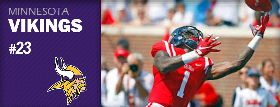 Pick 23 - MIN Vikings - Laquon Treadwell