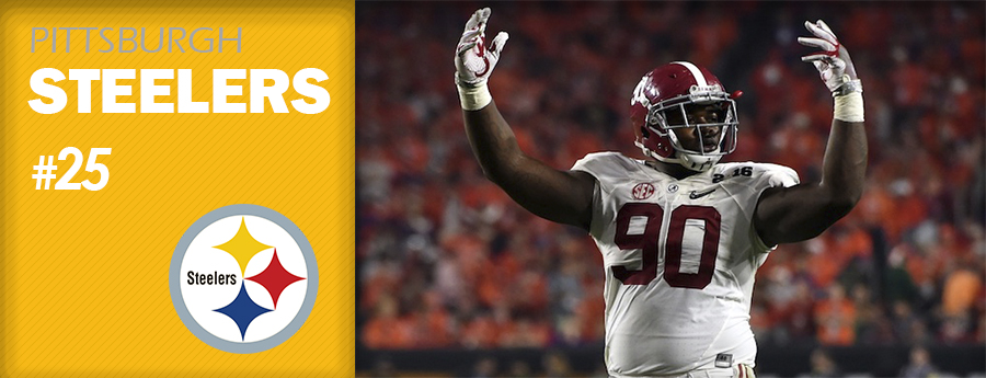 Pick 25 - PIT Steelers - Jarran Reed