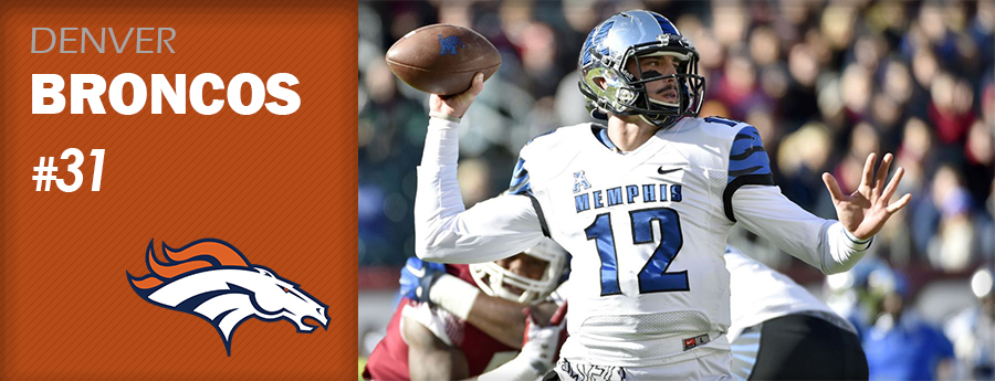 Pick 31 - DEN Broncos - Paxton Lynch